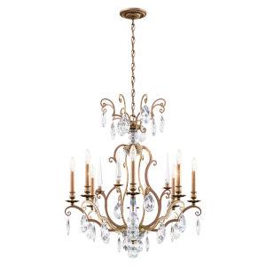 Renaissance Nouveau Heirloom Silver Eight-Light Chandelier