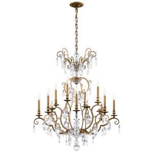 Renaissance Nouveau Heirloom Silver 12-Light Chandelier