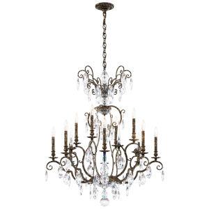 Renaissance Nouveau Heirloom Bronze 12-Light Chandelier