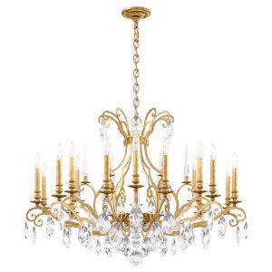 Renaissance Nouveau Heirloom Gold 18-Light Chandelier
