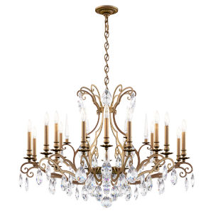 Renaissance Nouveau Heirloom Silver 18-Light Chandelier