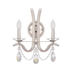 Vesca Antique Silver Two-Light Wall Sconce