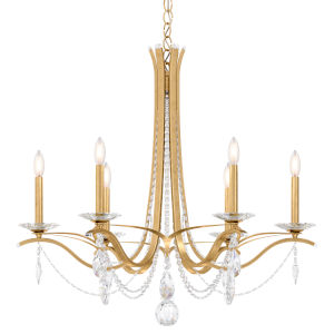 Vesca Heirloom Gold Six-Light Chandelier