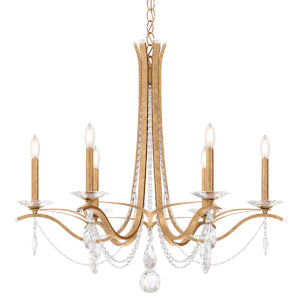 Vesca French Gold Six-Light Chandelier