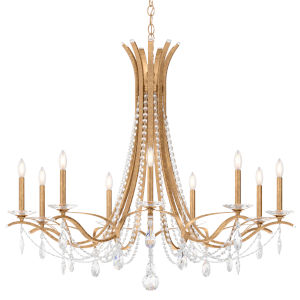 Vesca French Gold Nine-Light Chandelier