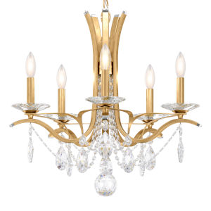Vesca Heirloom Gold Five-Light Chandelier