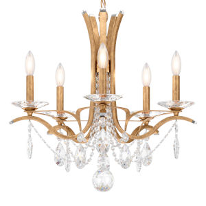 Vesca French Gold Five-Light Chandelier