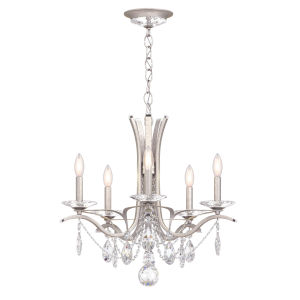 Vesca Antique Silver Five-Light Chandelier