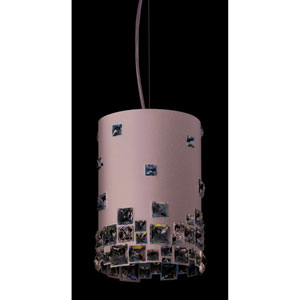 Mosaix Glimmer Gray Four-Light Pendant with Clear Swarovski Crystals