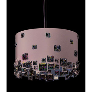 Mosaix Glimmer Gray Six-Light Pendant with Clear Swarovski Crystals