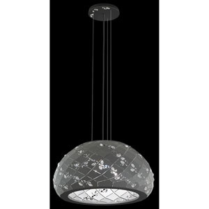 Apta Glimmer Gray Three-Light Pendant with Clear Swarovski Crystals