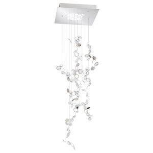 Crystalon Stainless Steel 56-Inch 4000K LED Pendant with Clear Swarovski Crystals