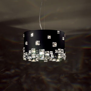 Mosaix Stainless Steel Six-Light Pendant with Clear Swarovski Crystals