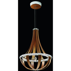Crystal Empire Chinook 27-Inch 4000K LED Pendant with Clear Swarovski Crystals