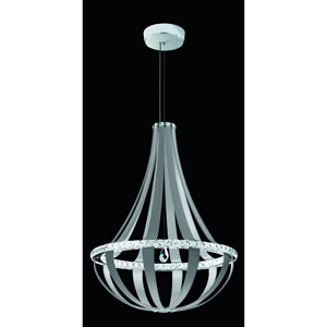 Crystal Empire White Pass 34-Inch 3000K LED Pendant with Clear Swarovski Crystals