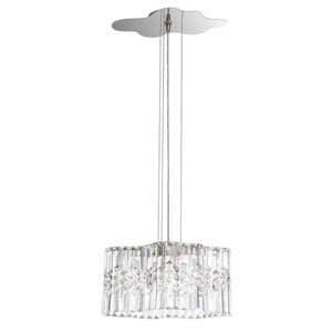 Selene Stainless Steel 15-Inch 4000K LED Pendant with Clear Spectra Crystal