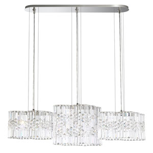 Selene Stainless Steel 40-Inch 4000K LED Pendant with Clear Spectra Crystal