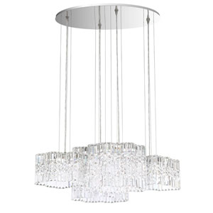 Selene Stainless Steel 37-Inch 3000K LED Pendant with Clear Spectra Crystal