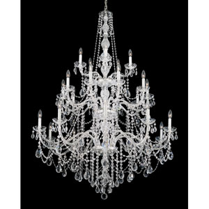 Arlington Silver 25-Light Clear Heritage Handcut Crystal Chandelier, 44.5W x 64H x 44.5D