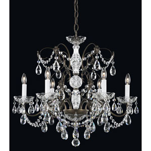 Madison Etruscan Gold Six-Light Clear Heritage Handcut Crystal Chandelier, 24W x 21.5H x 24D
