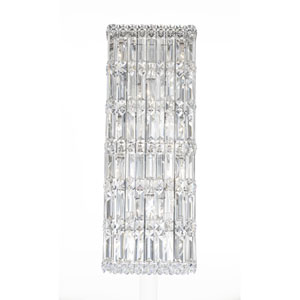 Quantum Stainless Steel 10-Light Clear Spectra Crystal Wall Sconce, 9W x 25H x 9D