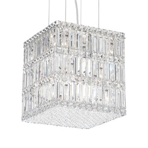 Quantum Stainless Steel 13-Light Clear Spectra Crystal Pendant Light, 12W x 13H x 12D