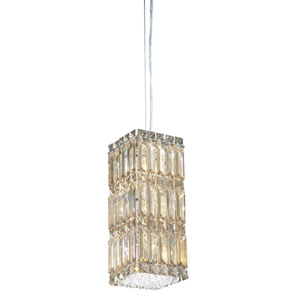 Quantum Stainless Steel Six-Light Golden Shadow Swarovski Strass Pendant Light, 5.5W x 13H x 5.5D
