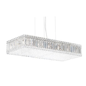 Quantum Stainless Steel 17-Light Clear Spectra Crystal Pendant Light, 29.5W x 5H x 29.5D