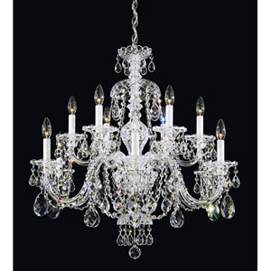 Sterling Silver 12-Light Clear Heritage Handcut Crystal  Chandelier, 29W x 30H x 29D