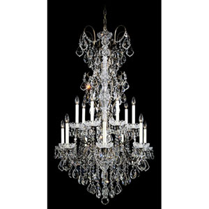 New Orleans Etruscan Gold 14-Light Clear Heritage Handcut Crystal Chandelier, 32W x 53H x 32D