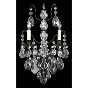 Bordeaux Heirloom Bronze Two-Light Clear Legacy Collection Wall Sconce, 11.5W x 21.5H x 11.5D