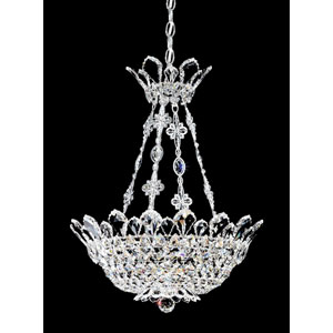 Trilliane Silver Eight-Light Crystal Swarovski Strass Pendant Light, 19W x 23H x 19D