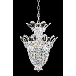 Trilliane Silver Five-Light Crystal Swarovski Strass Pendant Light, 12.5W x 17H x 12.5D