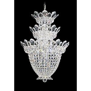 Trilliane Silver 15-Light Crystal Swarovski Strass Pendant, 19W x 28H x 19D
