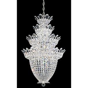 Trilliane Silver 24-Light Crystal Swarovski Strass Pendant, 24W x 38H x 24D