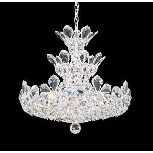 Trilliane Silver 15-Light Crystal Swarovski Strass Pendant, 20W x 19H x 20D