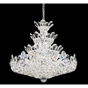 Trilliane Silver 24-Light Crystal Swarovski Strass Pendant, 24W x 24H x 24D