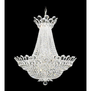 Trilliane Silver 40-Light Crystal Swarovski Strass Pendant, 28W x 30H x 28D