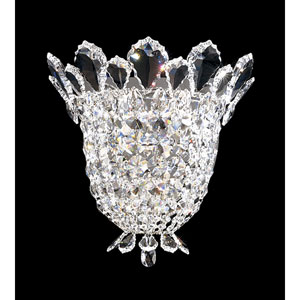 Trilliane Silver Three-Light Crystal Swarovski Strass Wall Sconce, 11.5W x 10.5H x 11.5D