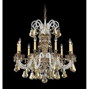 Isabelle Florentine Bronze Nine-Light Golden Shadow Swarovski Strass Chandelier, 31W x 31H x 31D