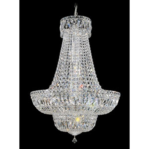 Petit Crystal Deluxe Silver 23-Light Clear Spectra Crystal Pendant, 24W x 34H x 24D