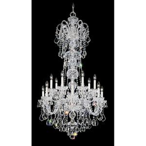 Olde World Silver 14-Light Crystal Swarovski Strass Chandelier, 32W x 55.5H x 32D