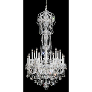 Olde World Silver 23-Light Crystal Swarovski Strass Chandelier, 36W x 68H x 36D