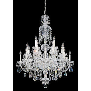 Olde World Silver 25-Light Crystal Swarovski Strass Chandelier, 35.5W x 46H x 35.5D