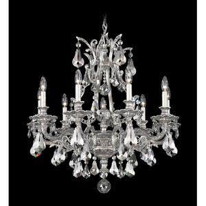 Sophia Roman Silver Nine-Light Silver Shade Heritage Handcut Crystal Chandelier, 28W x 30H x 28D