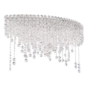 Chantant Stainless Steel Six-Light Eye Short Flush Mount with Clear Heritage Crystal