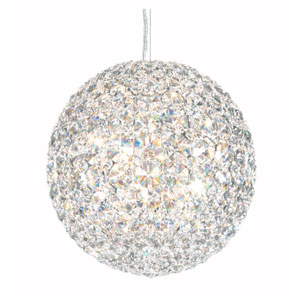 Da Vinci Stainless Steel Six-Light Clear Spectra Crystal Pendant Light, 10W x 10H x 10D