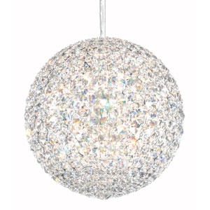 Da Vinci Stainless Steel 12-Light Clear Spectra Crystal Pendant, 12W x 12H x 12D