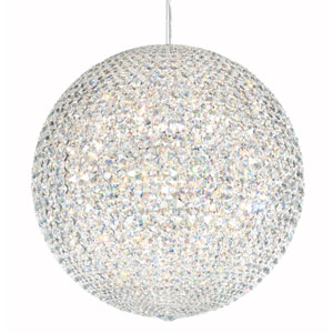 Da Vinci Stainless Steel 30-Light Clear Spectra Crystal Pendant Light, 24W x 24H x 24D