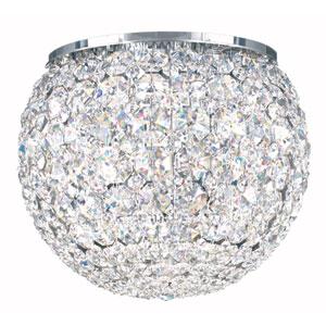 Da Vinci Stainless Steel Five-Light Clear Spectra Crystal Flush Mount Light, 10W x 8H x 10D